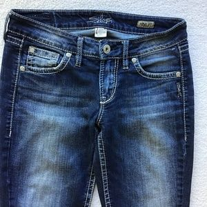 """Silver Jeans Jeans - SILVER JEANS SIZE 27 LOLA 17"""" STRAIGHT"""